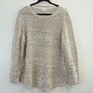 Style & Co Pullover Sweater Cream and Pastels 1X